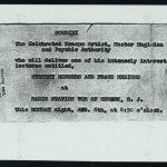 Mystery Mongers Houdini Card