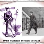 1912 Fashion - Fiction vs Fact - artographico - PNG