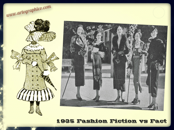 1935 Fashion - Fiction vs Fact - artographico _ PNG