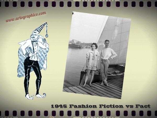 1945 Fashion - Fiction vs Fact - artographico _ PNG