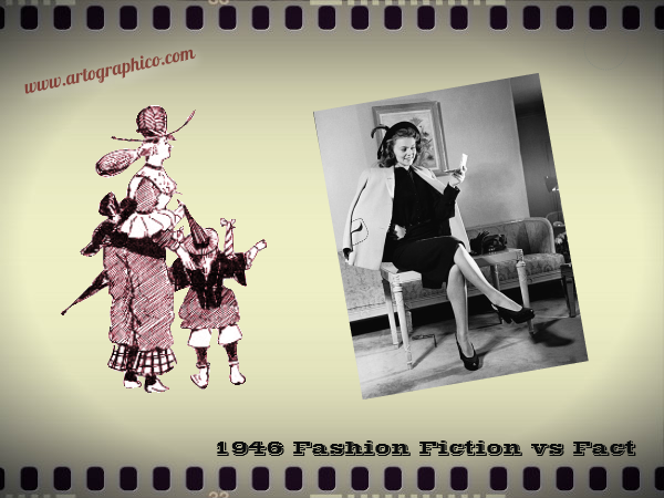 1946 Fashion Fiction vs Fact - artographico PNG