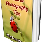 Ebook Cover - Natural Photography Tips - Myriam Moments - Hard Cover Open