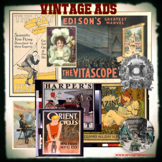Vintage Ads Collage - Artographico