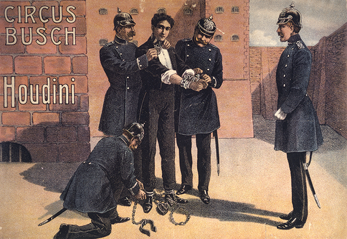 Houdini Arrested and Locked Up