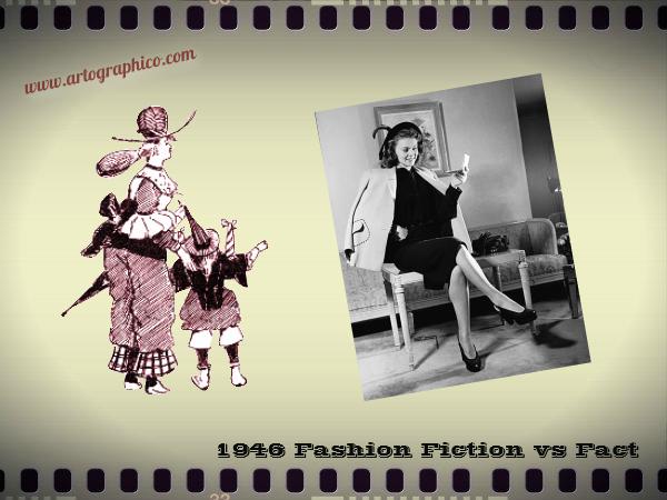 1946 Fashion Fiction vs Fact - artographico PNG