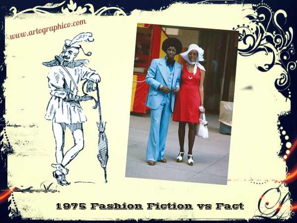 1975 Fashion Fiction vs Fact - artographico PNG