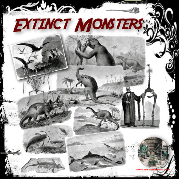 Extinct Monsters 600x600 PNG