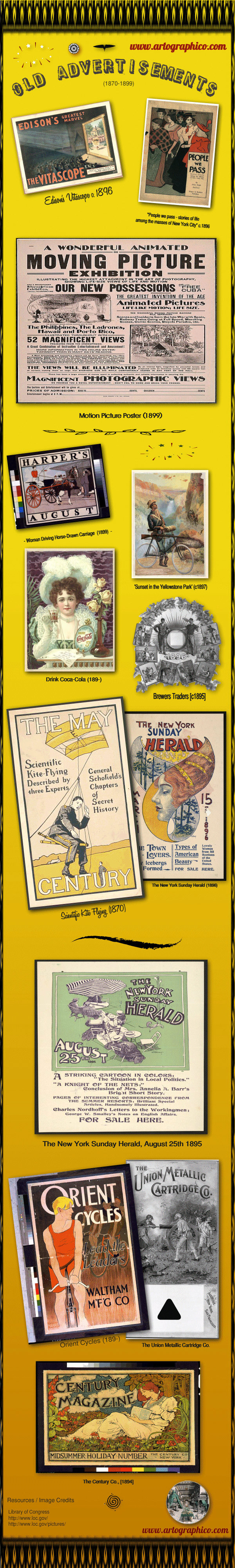 Vintage Ads Infographic - Artographic