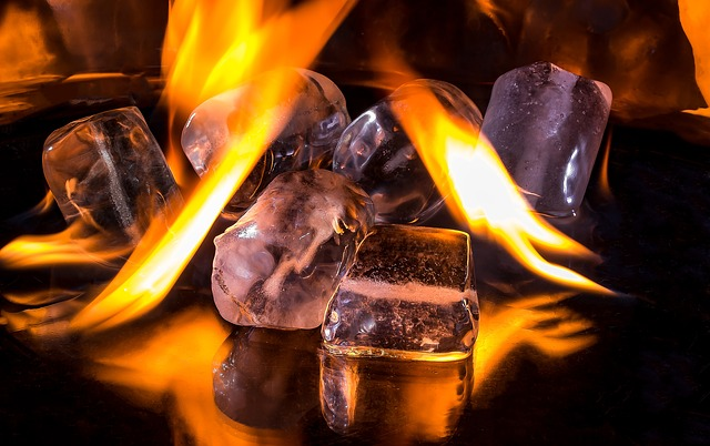 Flaming Ice-Cubes